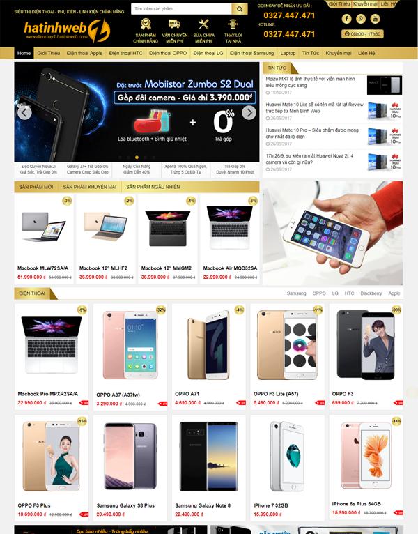 Mẫu webiste bán hàng