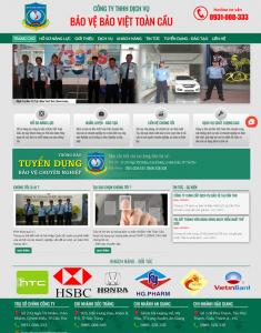 Mẫu website dịch vụ bảo vệ