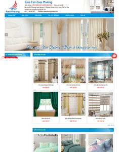 Mẫu website bán rèm màn