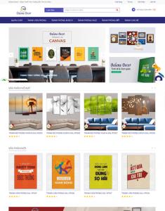 Mẫu website bán tranh canvas